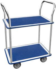 JPC Chariot à plateaux, 2 plateaux, dim.: (L)730 x (l)470 mm