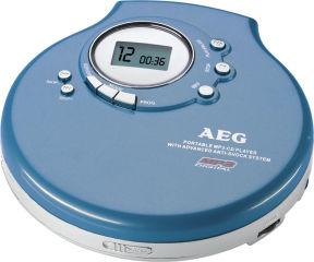 AEG Lecteur CD portable CDP 4212 MP3, noir