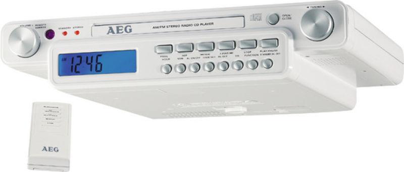 aeg 95000023 53 90 radio encastrable pour cuisine avec cd krc 4323 cd. Black Bedroom Furniture Sets. Home Design Ideas