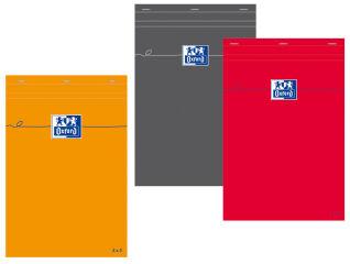 Oxford Bloc-notes, A6, quadrillé, 80 feuilles, orange