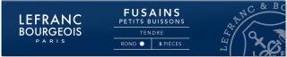 LEFRANC & BOURGEOIS Fusain 'Petit Buisson', étui de 5, rond