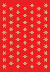 HERMA Autocollants de Noël DECOR 'étoiles', 8 mm, or