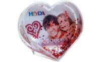 HEYDA Boule à neige 'coeur à paillettes', transparent