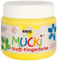 KREUL Gouache aux doigts textile 'MUCKI', 150 ml, jaune