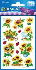 AVERY Zweckform Sticker ZDesign 'tournesols & coccinelles'