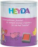 HEYDA Set de tampons encreurs 'Sunrise', boîte transparente