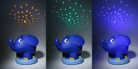 ANSMANN Veilleuse musicale à projection d'étoiles 'éléphant'
