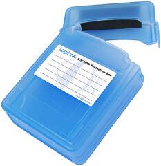 LogiLink Boîtier de protection pour disques durs 2,5', bleu