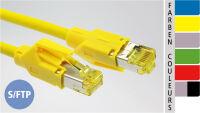 EC-net Câble patch Cat. 6A S/FTP, jaune, 5 m
