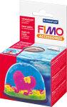 FIMO Boule de neige, ovale, boule transparente avec fond et