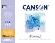 CANSON Bloc de papier aquarelle 'Montval', 300 x 400 mm