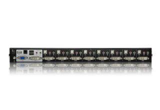 ATEN commutateur KVM 19' DVI avec USB/DVI/Audio, 8 ports