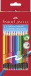 FABER-CASTELL Crayons couleur effacables, étui carton de 12,