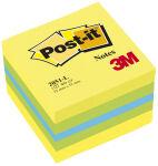 Post-it Bloc-note cube mini, 51 x 51 mm, couleurs ultra