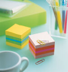 Post-it bloc-notes adhésifs en cube mini, 51 x 51 mm,