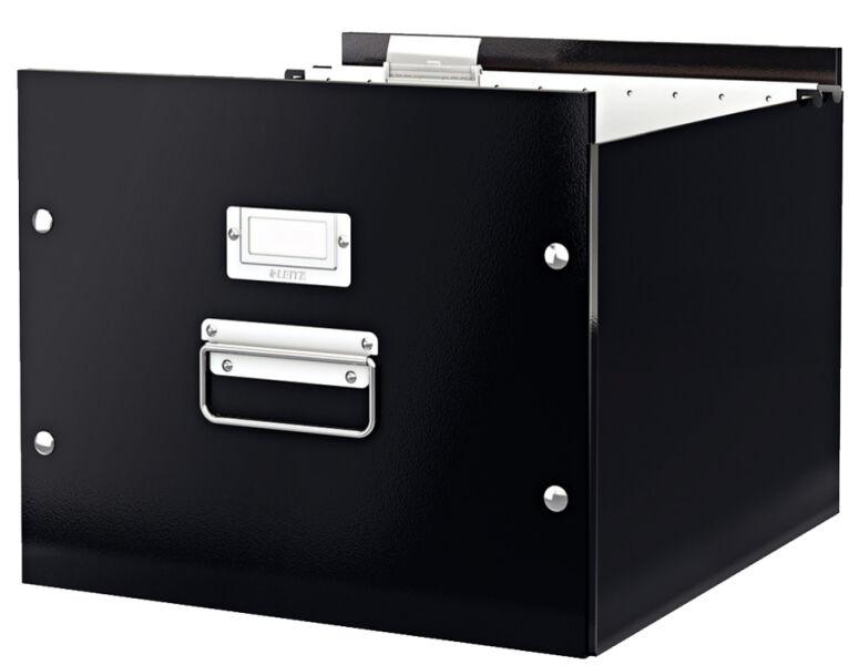 leitz 80604601 14 90 leitz bo te pour dossiers suspendus click store blanc. Black Bedroom Furniture Sets. Home Design Ideas