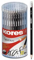 Kores crayon 'GRAFITOS', dureté: HB, hexagonal, 72 pièces