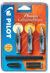 PILOT Stylo plume de calligraphie Plumix, kit de 3