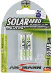 ANSMANN Pile NiMH SOLAR, Micro AAA, 550 mAh, blister de 2