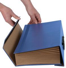 Fellowes BANKERS BOX Trieur accordéon Handilife, bleu