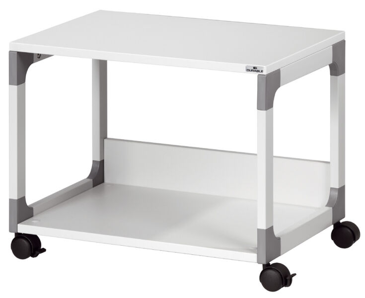 Durable 9371010 127 15 durable table de bureau for Table exterieure a roulettes