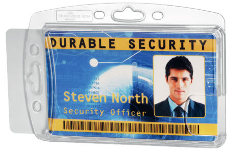 DURABLE Porte-badge double, rigide, avec encoche