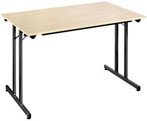 SODEMATUB Table pliante TPMU128HN, 1.200 x 800 mm,hêtre/noir