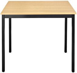 SODEMATUB table de réunion 147DRHN, demi-ronde, hêtre/noir