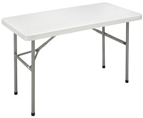 SODEMATUB Table pliante YCZ-122 en plastique, gris clair