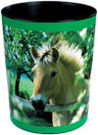 Läufer Corbeille à papier 'cheval à la clôture de prairie'