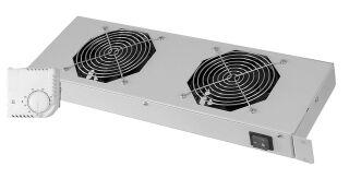 DIGITUS unité de ventilation 19', 1 U, 2 ventilateurs 120 mm