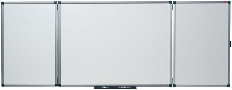 nobo 5538303 591 90 nobo tableau tryptique blanc l x h mm. Black Bedroom Furniture Sets. Home Design Ideas