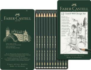 FABER-CASTELL Crayon CASTELL 9000 Design, étui de 12