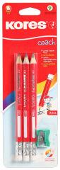 Kores Crayon COACH, triangulaire, degré de durété: 2 HB