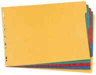 ELBA Intercalaires carton, unis, A3 à l'italienne, 5 touches