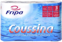 Fripa Rouleau d'essuie-tout Coussina, 3 couches, blanc
