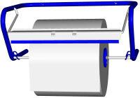 Fripa Dérouleur mural pour rouleau de nettoyant, métal, bleu