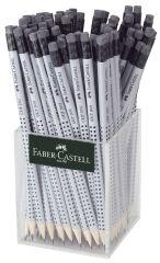 FABER-CASTELL Crayon GRIP 2001 avec gomme, dans un pot