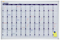 FRANKEN Tableau planning X-tra!Line calendrier, 900 x 600 mm