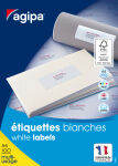 agipa Etiquettes multi-usage, 48,5 x 25,4 mm, coins droits