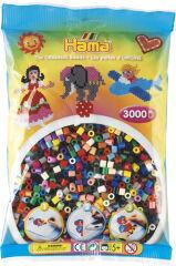 Hama Perles à repasser midi 'Mix de couleurs', en sachet
