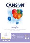 CANSON Bloc à dessin Imagine, format A4, 200 g/m2