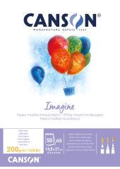 CANSON Bloc à dessin Imagine, format A2, 200 g/m2
