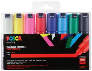 POSCA Marqueur à pigment PC-8K, étui de 8, assorti