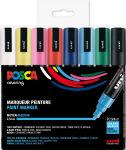 POSCA Marqueur à pigment PC-5M, étui de 8, assorti couleurs