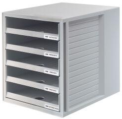 HAN Module de classement, 5 tiroirs ouverts, boîtier: gris