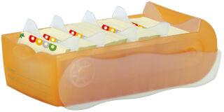 HAN Boîte à fiches CROCO, A7, boîte: jaune translucide