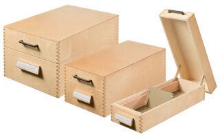HAN Boîte à fiches en bois pour 900 fiches, A6 paysage