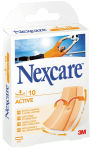 3M Nexcare Pansement Active, marron, 10 bandes à 100 x 60 mm