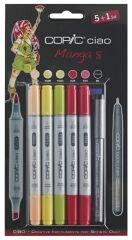 COPIC Kit de marqueurs hobby ciao 5+1, Manga 8